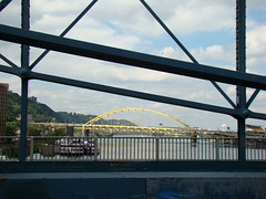 Fort Pitt Bridge from the Smithfield Bridge, Sept. 17th 2014