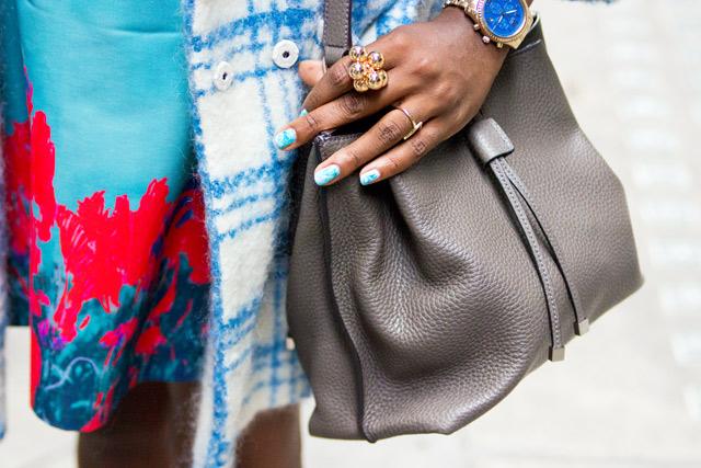 Mulberry grey small Kensington bag