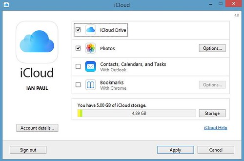 iCloud Drive для Windows