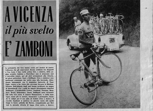 Giro 1961 tappa a Zamboni, Bahamontes si ritira
