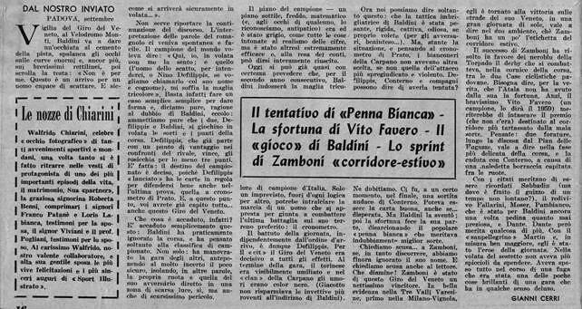 Sport Illustrato 11/09/1958 - Giro del Veneto