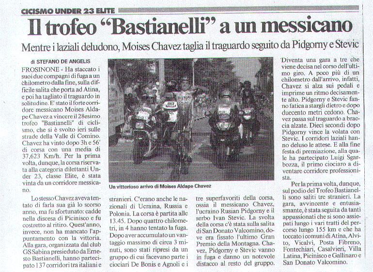 Il Messaggero - Trofeo Bastianelli 2004
