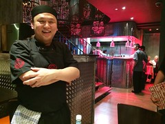 Eddie Ong Chok Fong at Aroi Cork opening night. Asian Thai fusion street food with local ingredients.