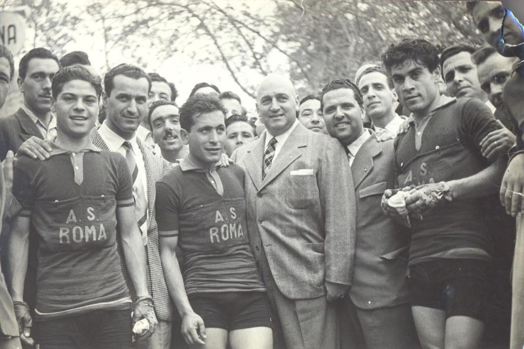 Coppa Italia 1952 da sin. Elio Imperi, Bruno Monti, Luciano Ciancola