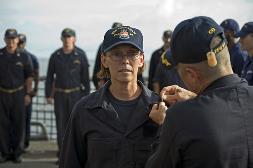 Ingraham Holds Promotion and Awards Ceremony at Sea