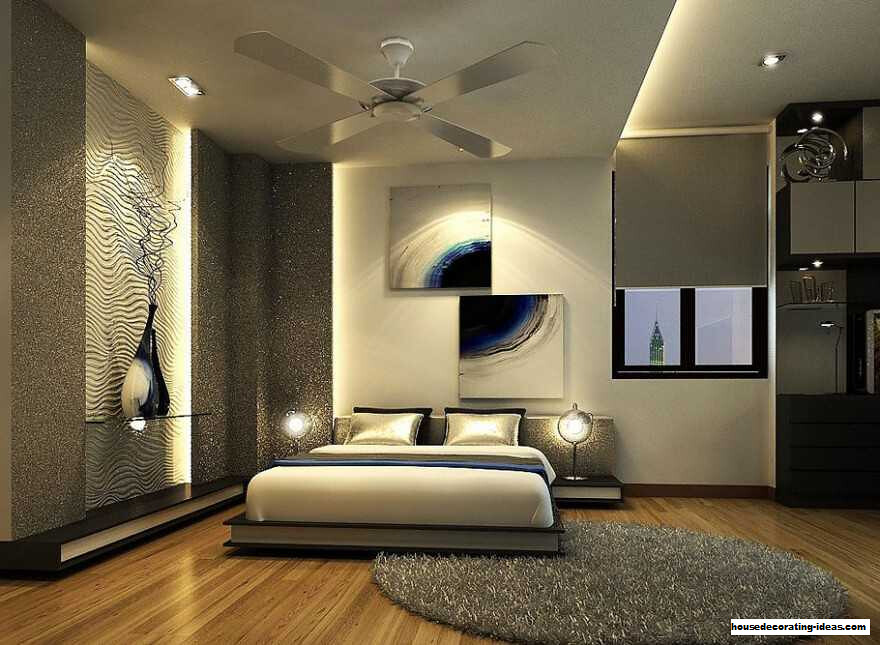 Contemporary Classic Silver Bedroom Design With Extraordinary Concept With Impressive Scheme