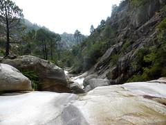 Les vasques sous le départ du canyoning de la Purcaraccia