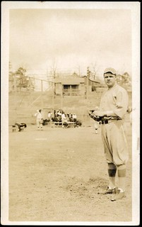 Babe Ruth at Majestic Park, circa 1916.