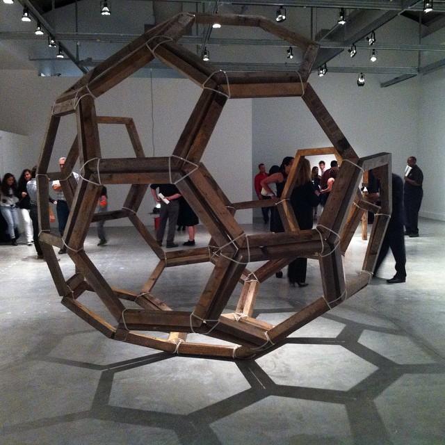 """After the crowd dispersed I took a few pics. Carlos Sandoval de León at MOCA, """"Third Space."""""""