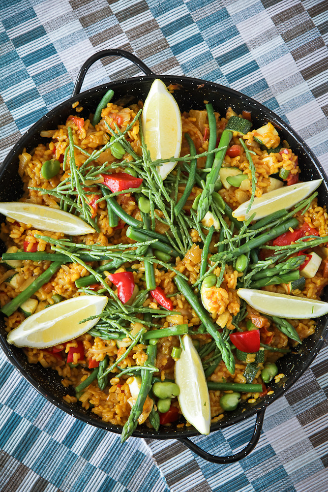 Vegetarian Paella with Samphire