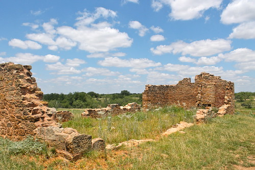 ruins texas fort historic frontier fortchadbourne