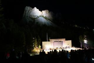 Mt. Rushmore lighting ceremony