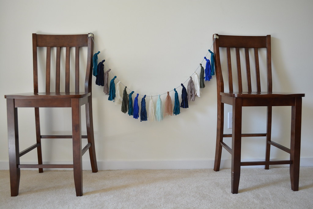 Start with old nylons and tights, end with this simple buy gorgeous tassel garland! // Lovely Wren