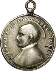 Ebersberg, Cloister Church of St. Sebastian. Cast silver pendant, gilded reverse