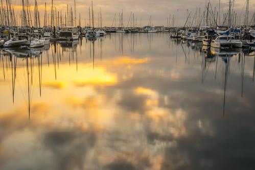 sea water weather clouds marina sunrise boats manly waterreflections sunsetsandsunrisesgold cloudsstormssunsetssunrises slowshutteronwater