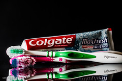 Consume = to use up e.g. Toothpaste