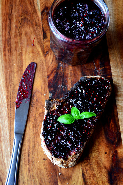 Recipe for Blackberry and Basil Jam