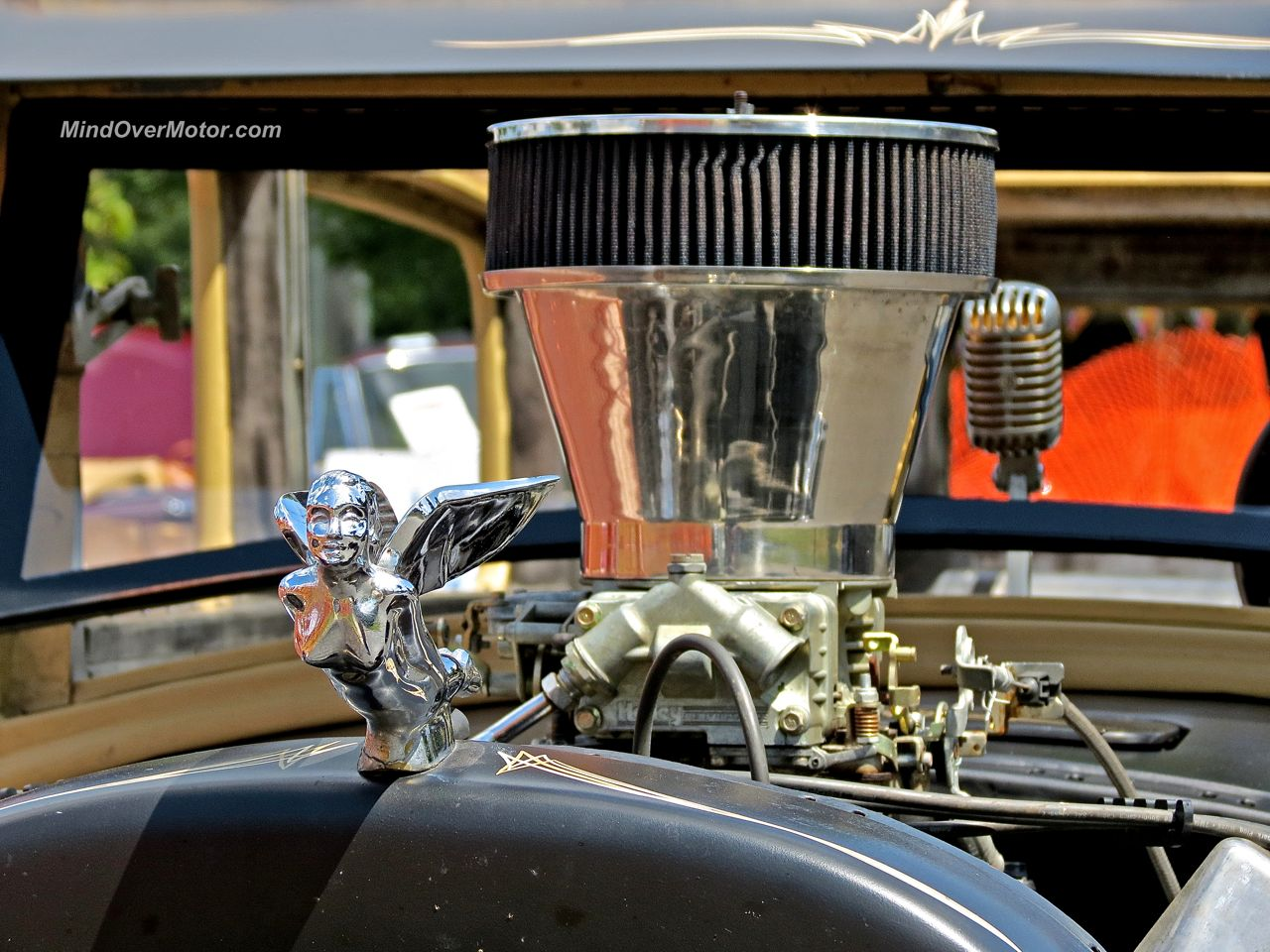 Ford Rat Rod in New Hope Hood Ornament