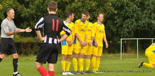Cliffe FC 0 - 8 Dunnington (York FA Cup) 27Sept14