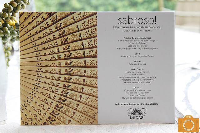 Sabroso menu