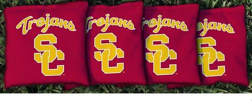 USC TROJANS RED CORNHOLE BAGS