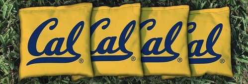 CALIFORNIA BERKELEY GOLDEN BEARS YELLOW CORNHOLE BAGS