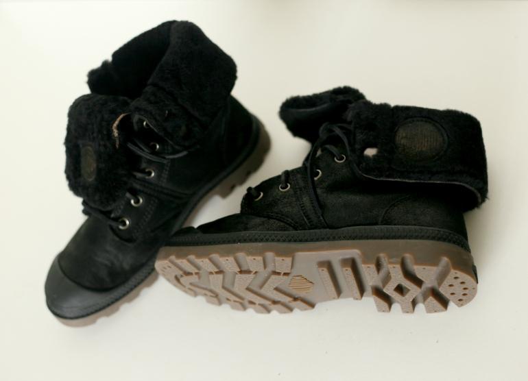 palladium zwarte gevoerde laarzen 2
