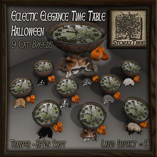 Eclectic Elegance Time Table Halloween Gacha