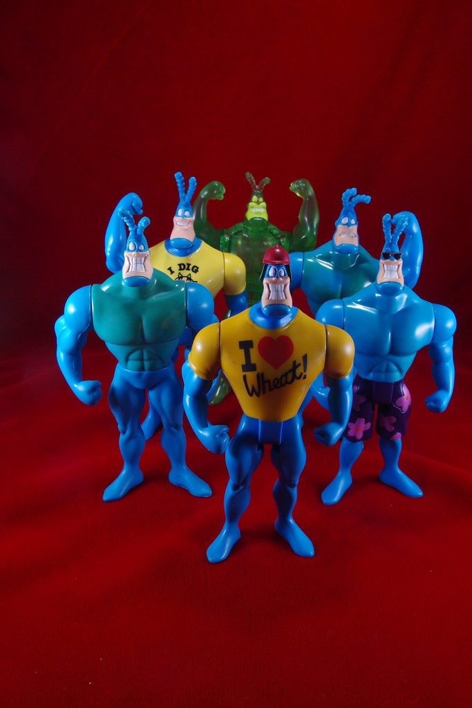 The Tick Gang of Six Action Figures from 1995-1996