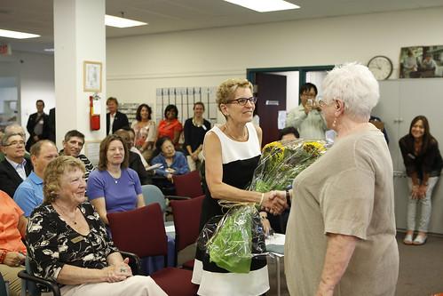 _MG_5741 Premier Kathleen Wynne brings greetings to the members of the Aphasia Institute at their annual general meeting.