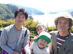 自分撮りスティックで宮ヶ瀬湖 2014/9