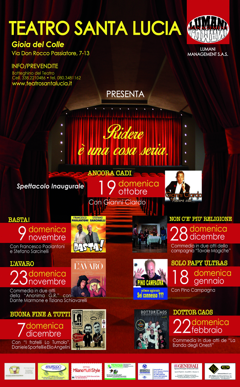 programma teatro santa lucia