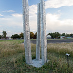 Bill Vielehr, Metal Response, Cast and fabricated aluminum, 2006 - Photograph by Wes Magyar