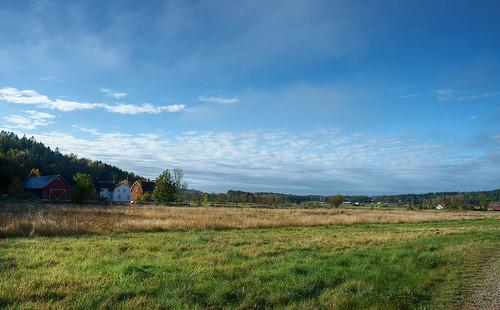 autumn sky sun fall field landscape 28mm hd halland kungsäter 3exposurehdr
