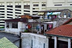 Rooftops on Sukhumvit road seen from Asok BTS Skytrain station