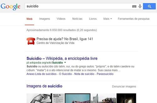 Detalhe de página de pesquisa do Google, indicando o CVV