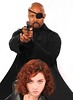 Nick Fury and Black Widow