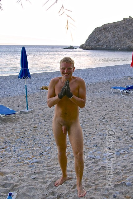 naturist 0002 Glyko Nero beach, Crete, Greece
