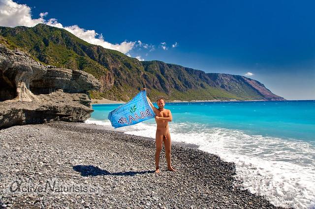 naturist 0004 Agia Roumeli beach, Crete, Greece