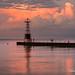 Stunning Sunset, Edgewater, Lake Michigan
