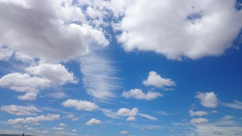 Cotton clouds, Deep blue sky