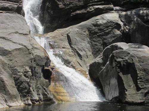 Close-up of the falls