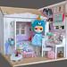 OOAK Diorama Happy Bunny (2)