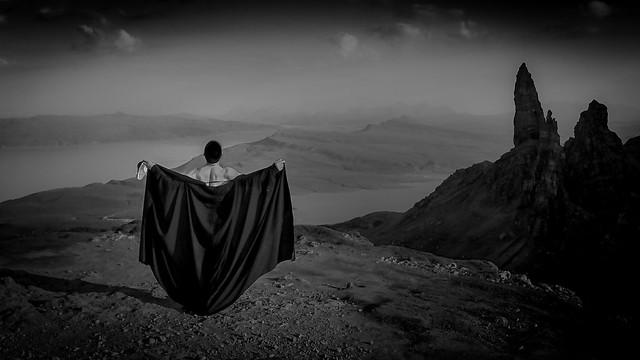 Freedom -Butoh Improvisation at The Old Man of Storr- (Isle of Skye, Scotland. Gustavo Thomas © 2014)