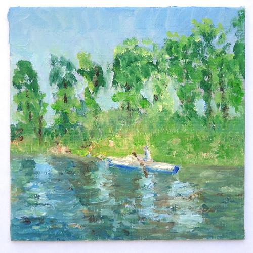painting landscape sketch study oil