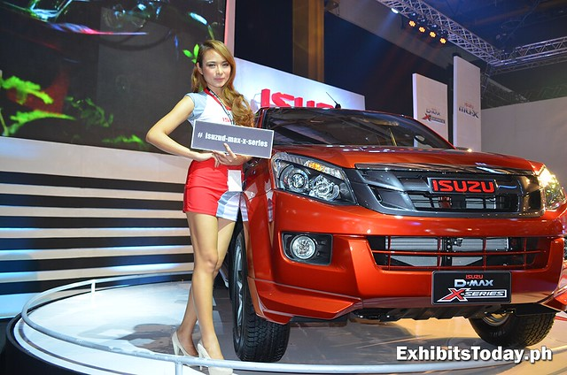 Isuzu D-Max with girl model