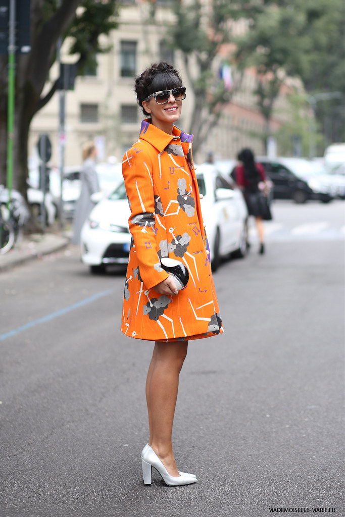 Laura Comolli at Milan fashion week copie
