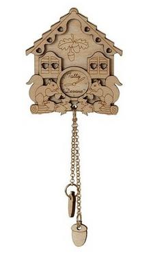 Cuckoo clock brooch