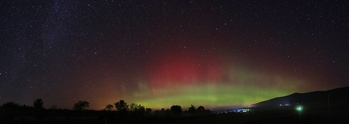 new summer sky panorama color colour field night dark stars landscape lights pano north arc nh hampshire panoramic september aurora jefferson northern sept nite borealis 2014