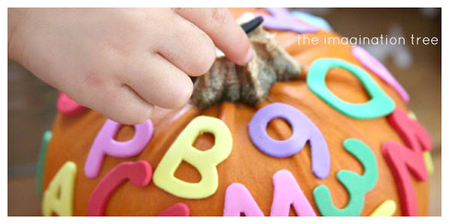 Alphabet Pumpkin (Photo from The Imagination Tree)